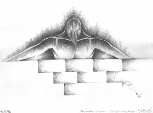 Drawing: Persevere. Copyright kaveh Adel 1996