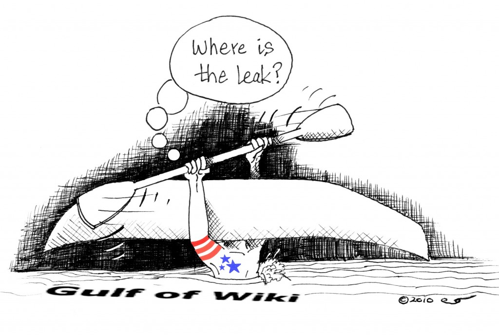 Gulf of WikiLeaks Political Cartoon by Kaveh Adel Copyright 2010