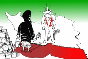 """White Paint in the Face of A Nation"" A Political Cartoon by Kaveh Adel"
