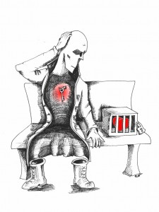 "Human rights Cartoon: ""Heart of Humanity"" by Kaveh Adel Copyright 2010"