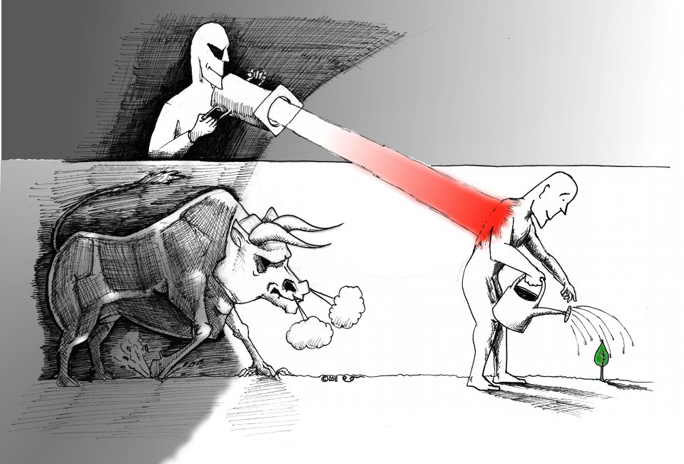 Link to Cartoon: The Red Light and the Bull