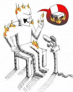 Political Cartoon: Rhetoric, out of touch Copyright 2011 Kaveh Adel
