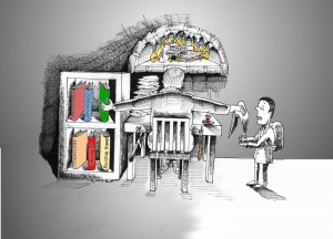 Political cartoon: The New Iranian Educational System Copyright 2011 Kaveh Adel