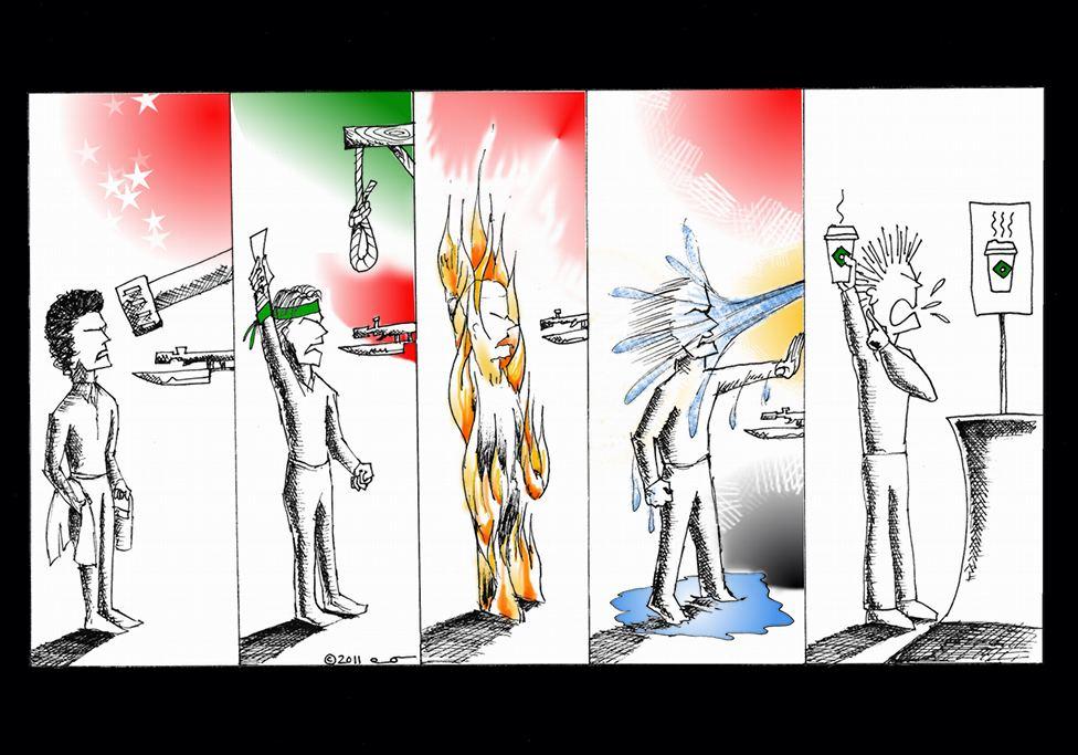 Political Cartoon: We all revolt for a reason Copyright 2011 Kaveh Adel