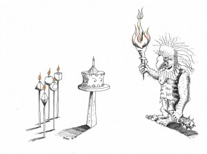 Political cartoon: Light the Candle with Candles Copyright 2011 Kaveh Adel