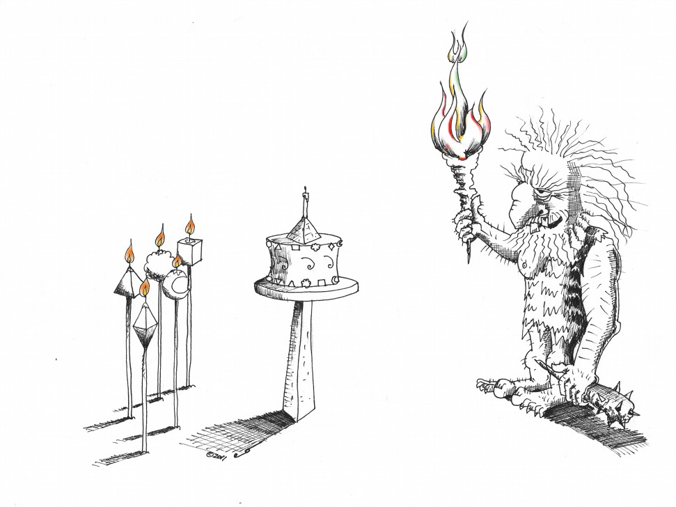 Political Cartoon: Light the Candle with Candles by Kaveh | Kaveh ...