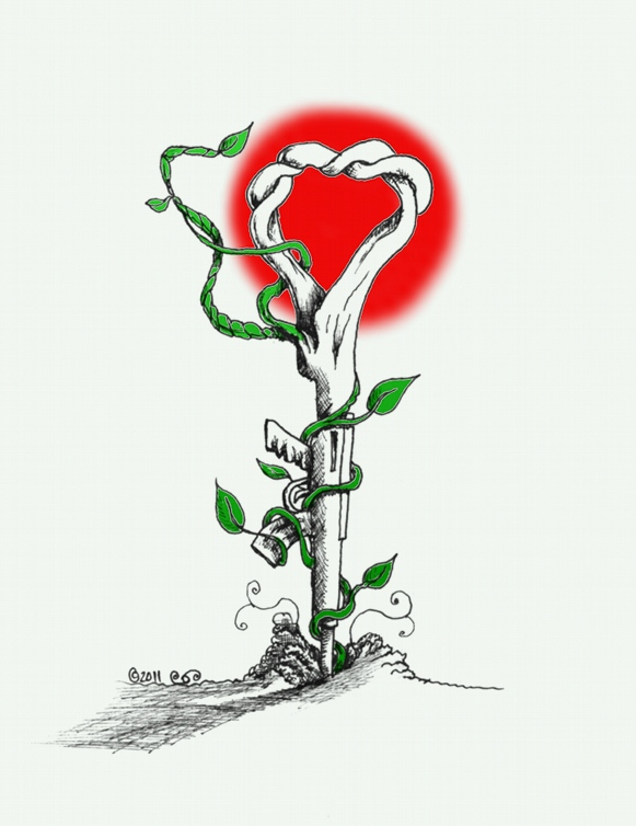 Link to Political cartoon: Plant the Gun and Grow a Heart