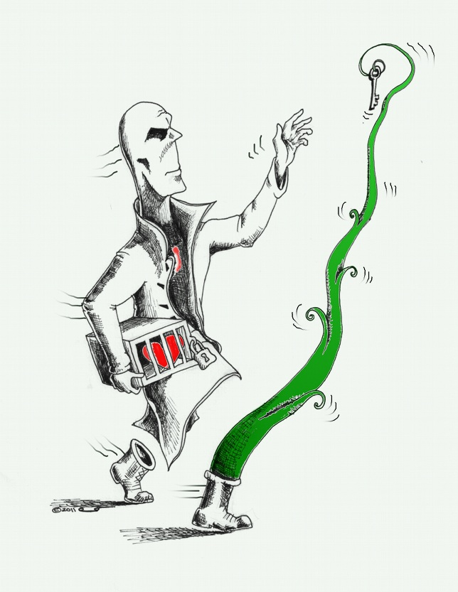 Caricature: Right Step to My Heart Copyright 2011 Kaveh Adel