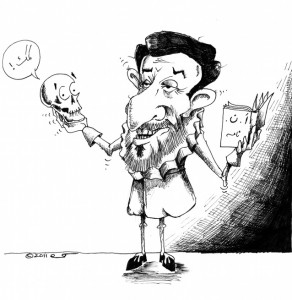 Political Cartoon: Ahmadinejad, Poet of Literary Mass destruction Copyright 2011 Kaveh Adel