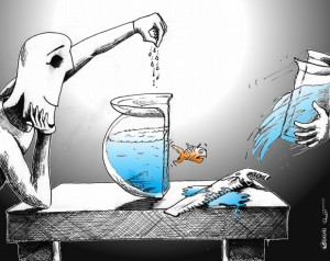 Cartoon: Feeding part 2 Copyright 2011 Kaveh Adel