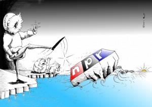 Political Cartoon: Senilicide on NPR copyright 2011 Kaveh Adel