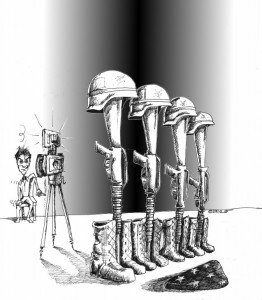 Political Cartoon: The Amnesia for the Fallen Copyright 2011 Kaveh Adel
