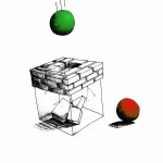 Political Cartoon| Cubic Conformism of the Transparently Confined | copyright 2011| by |Cartoonist |Kaveh Adel