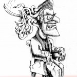 Political Cartoon Medusa, The Male Dictator copyright 2011 by Cartoonist Kaveh Adel