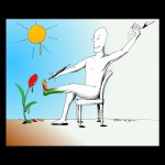 "Human Rights Cartoon: ""Self"" Portrait Copyright 2011 by Cartoonist Kaveh Adel"