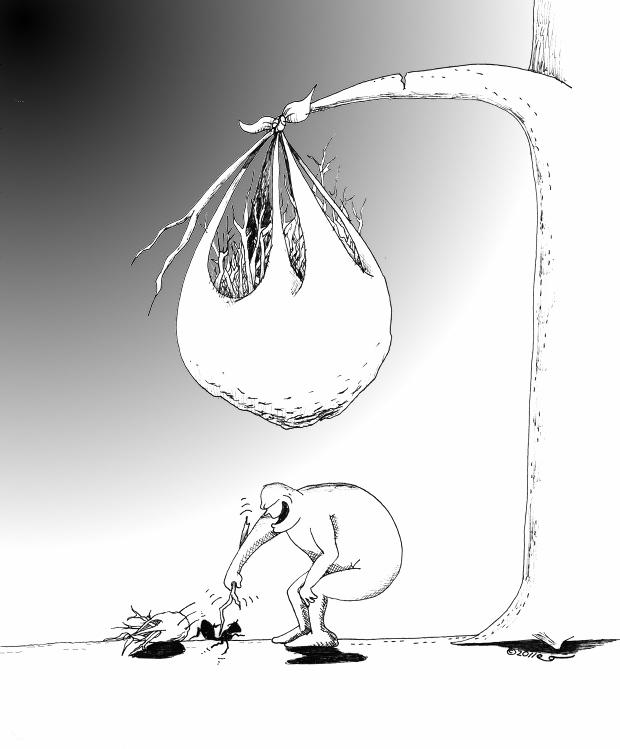 "Humn Rights cartoon: ""The Bully"" Copyright 2011 ""Kaveh Adel"""