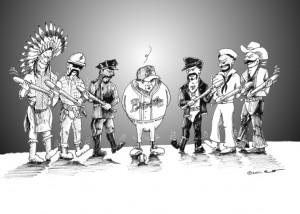 Cartoon  McDowell's Field of dreams Nightmare   by  Iranian American Cartoonist  Kaveh Adel  Copyright 2011