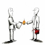 Political Cartoon|Educational greeting|copyright 2011|by|Iranian|American|Cartoonist|Kaveh Adel