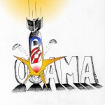 Political Cartoon | Obama yes he just did.....Osama in | copyright |2011 |by| Iranian |American |Cartoonist| Kaveh Adel