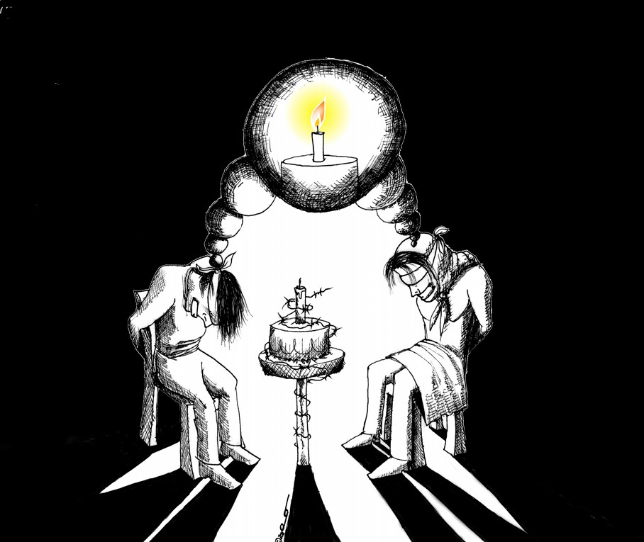 Political Cartoon Dream of a Free Birthday by copyright 2011 by Iranian American Cartoonist Kaveh Adel