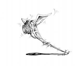 Political Cartoon PhotoJournalist Missing 2011Copyright Iranian American Cartoonist Kaveh adel.