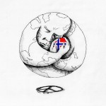 Political Cartoon Love for Norway copyright 2011 by Iranian American Cartoonist and Artist Kaveh Adel
