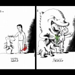 Political Cartoon: Yesterday's Gardener, Today's Reformer by Iranian American Cartoonist Kaveh Adel