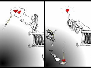 Political Cartoon: &quot; No Romeo, Juliet, No Khosrow, Shirin&quot; By Iranian American Cartoonist Kaveh Adel