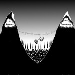 Political Cartoon: &quot;Two Hikers, Two Mountains&quot; By Iranian American Cartoonist and Artist Kaveh Adel