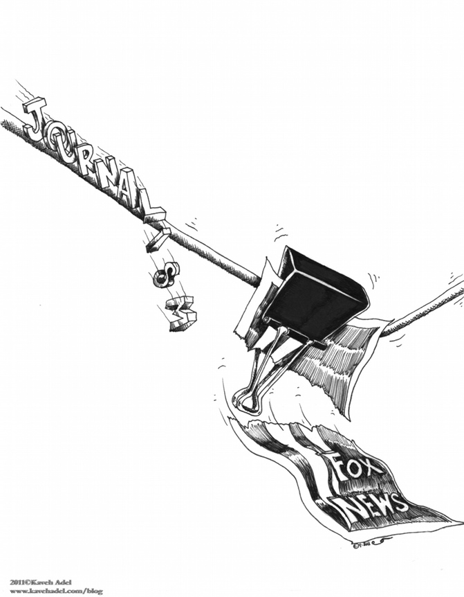 Political Cartoon Foxy Clip copyright 2011 by Iranian American Cartoonist and Artist Kaveh Adel