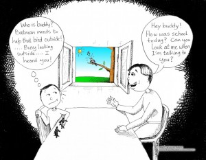 Adventures with Aspergers Cartoon: &quot;Look Outside&quot; by Iranian American Cartoonist and Artist, Kaveh Adel.