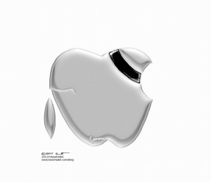 Humanity Cartoon Apple Mourns Jobs Passing copyright 2011 by Iranian American Cartoonist and Artist Kaveh Adel