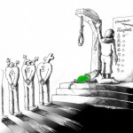 Political Cartoon Execution Flavor of the day copyright 2011 by Iranian American Cartoonist and Artist Kaveh Adel