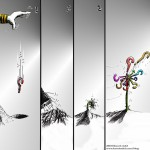"Political Cartoon: ""Dandelion"" by Iranian American Cartoonist and Artist Kaveh Adel."