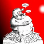 "Political Cartoon: ""Vision beyond the Tip of the Nose"" 2011 by Iranian American Cartoonist and Artist Kaveh Adel"