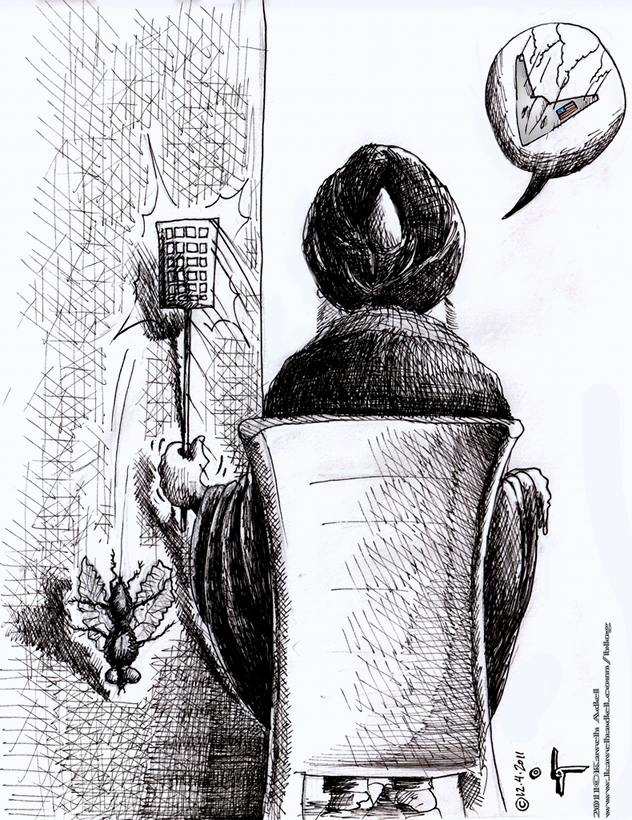 "Political Cartoon: ""Downed Drone"" by Iranian American Cartoonist and Artist Kaveh Adel"