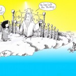 Political Cartoon: &quot;Kim Jong Il, Heaven and Elvis&quot; by Iranian American Cartoonist and Artist Kaveh Adel.