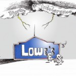 Political Cartoon: &quot;Lowes Haning Lightning Rod of Tolerance&quot; by Iranian American Cartoonist and Artist Kaveh Adel