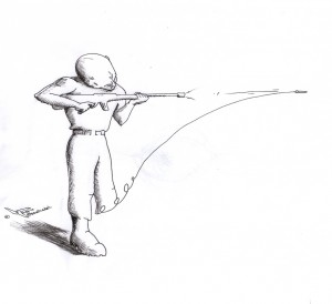"Political Cartoon ""War"" 2012 by Iranian American Cartoonist and Artist Kaveh Adel"