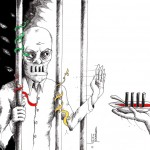 Political Cartoon: &quot;Hunger Strike&quot; by Cartoonist t Kaveh Adel