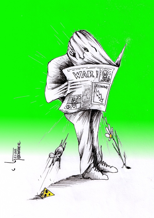 """Vacuum"" by Iranian American Cartoonist and Artist Kaveh Adel"