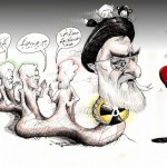 "Political Cartoon ""Boamenei بوآمنه ای"" by Iranian American Cartoonist and Artist Kaveh Adel"
