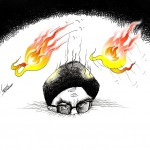 "Political Cartoon: ""Chahar Shanbeh Soori چهارشنبه ‌سوری"" by Iranian American Cartoonist and Artist Kaveh Adel"