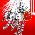 "Political Cartoon ""#KONY 2012 Hypnosis"" by Iranian American Cartoonist and Artist Kaveh Adel"