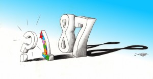 "Cartoon ""1 in 88"" 2012 by Iranian American Cartoonist and Artist Kaveh Adel"