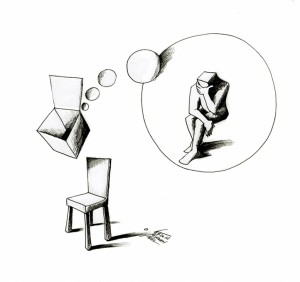 "Cartoon ""Thinking outside the Box"" by Iranian American Cartoonist Kaveh Adel"