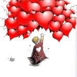 Political Cartoon: &quot;Breivik Hate No Match for Love&quot; by Iranian American Cartoonist Kaveh Adel