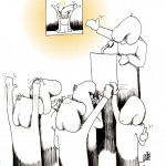"Political Cartoon: ""The Winner is..."" by Iranian American Cartoonist and Artist Kaveh Adel"