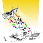 "Popular Culture Cartoon: ""Real Reading"" by Iranian American Cartoonist Kaveh Adel"