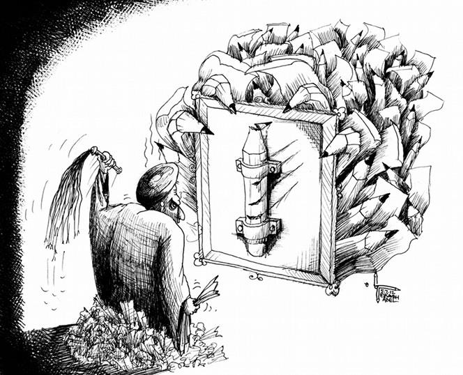 "Political Cartoon: ""Hey Ayatollah, Flog These!"" by Cartoonist Kaveh Adel"